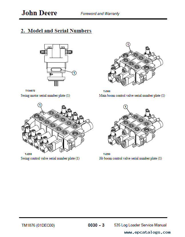 john deere 535 log loader tm1876 technical manual pdf