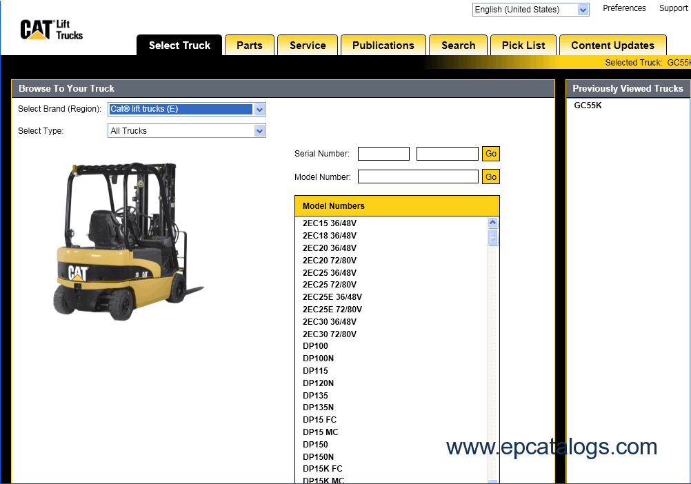 caterpillar Lift Trucks 2011 caterpillar lift trucks 2011, spare parts catalog, forklift trucks Caterpillar Forklift Models at edmiracle.co