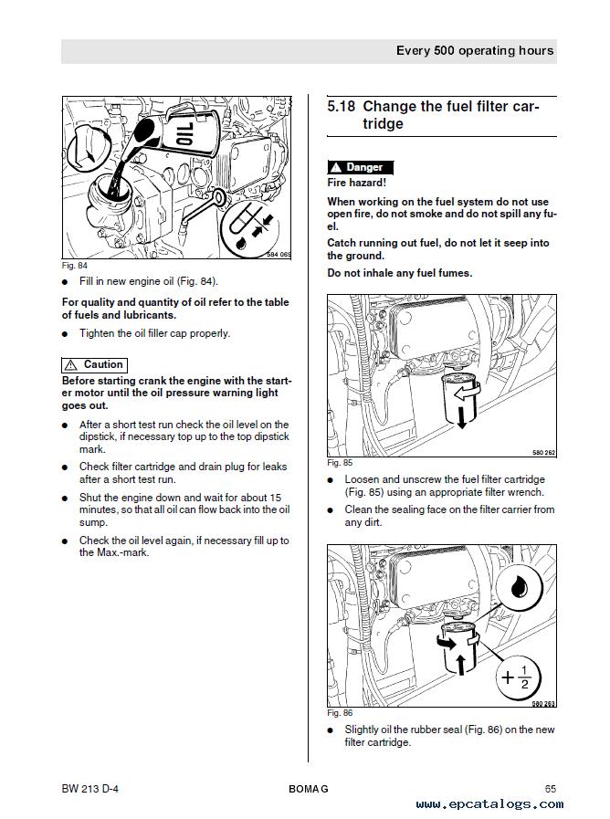 Bomag Compactor Repair And Parts Manual