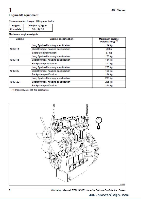 Jcb Download Perkins 400 Series Diesel Engine Workshop
