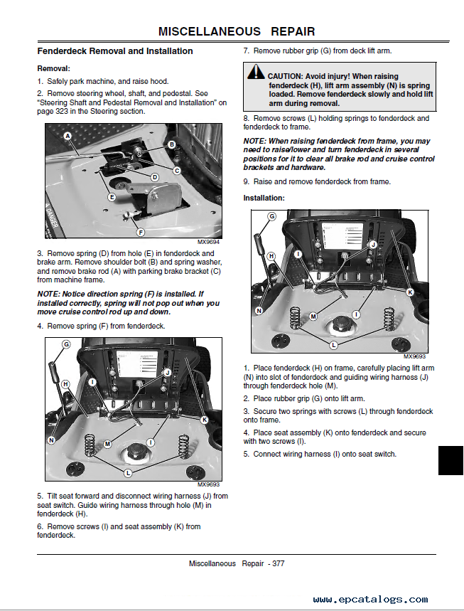 John Deere L L L L Lawn Tractors Technical Manual Pdf
