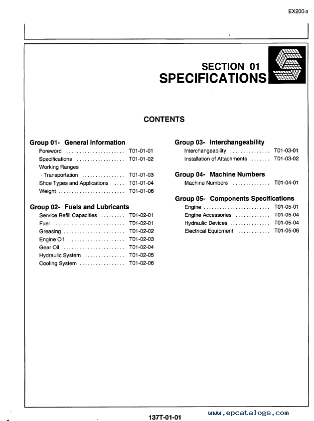 hitachi ex200 3 excavator technical workshop manuals pdf rh epcatalogs com Hitachi EX150 hitachi ex200-1 workshop manual