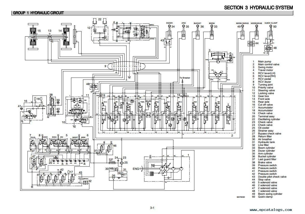 repair manual Hyundai R55W-7 Wheel Excavator Service Manual - 4