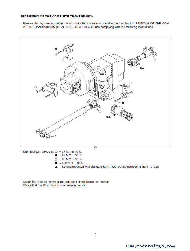 Manitou MLT 634 120 LSU B E2 Set of PDF Manuals