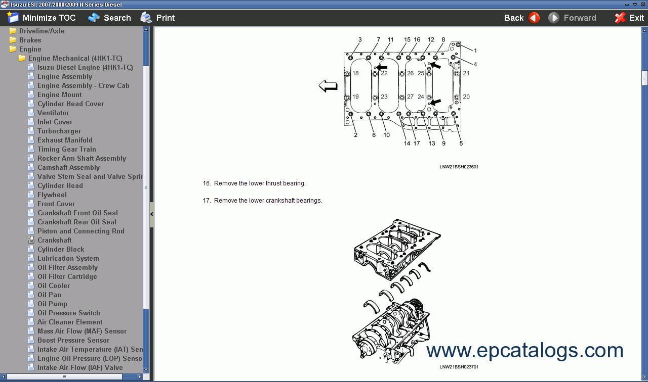 repair manual Isuzu NPR Diesel 5.2L N series - 2