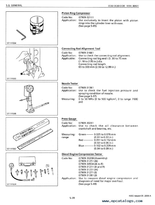 kubota oc60 oc80 oc95 diesel engines workshop manual pdf 9y011 rh epcatalogs com Kubota Tractor Radio Wiring Diagram Kubota RTV 900 Wiring Diagram