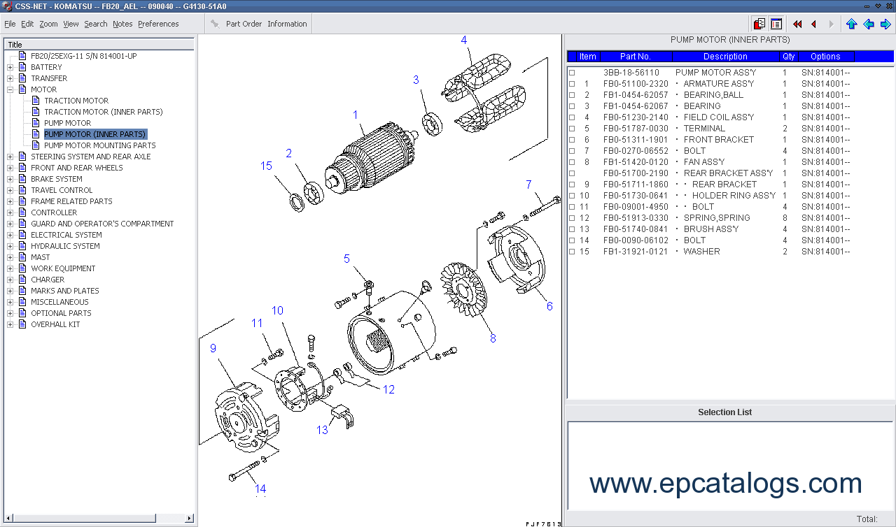 Komatsu Forklift Japan 2012 Spare Parts Catalog Download
