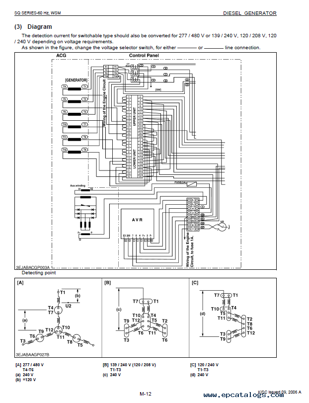 repair manual kubota sq 60 hertz series diesel generators workshop manual  pdf 9y011-01863 -