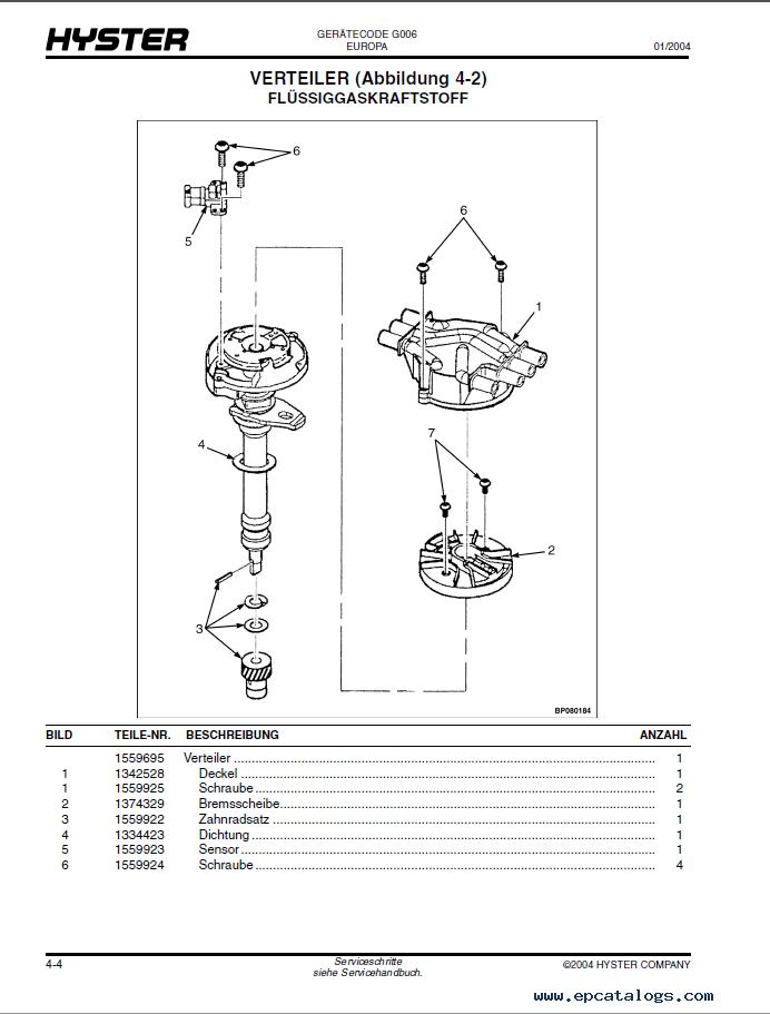 hyster g006 forklift pdf parts manual gr. Black Bedroom Furniture Sets. Home Design Ideas