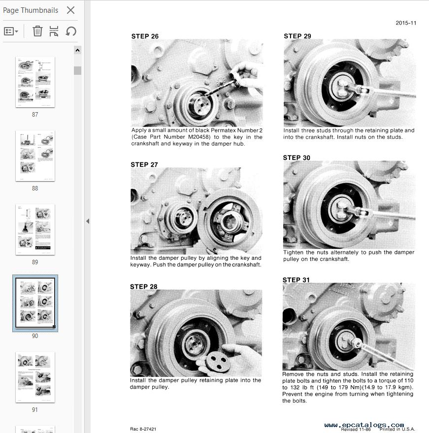 Case Combines Axial Flow 1600 Service Manual PDF