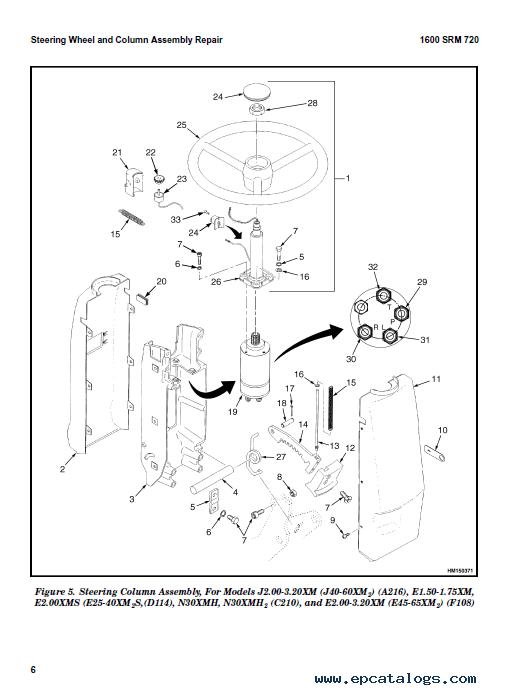 hyster a216 j2 00 3 20xm europe service forklift shop manual workshop repair book