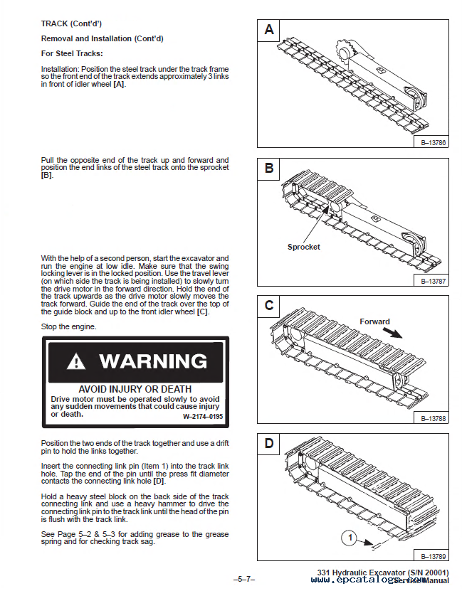 Bobcat X 331 Excavator Service Manual Pdf  Repair Manual