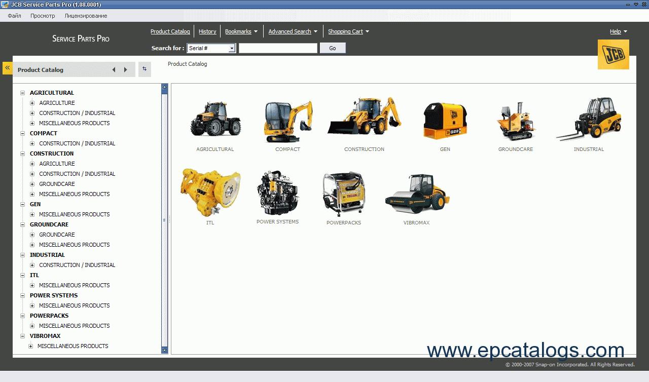 spare parts catalog JCB Service Parts Pro 2009 - 1