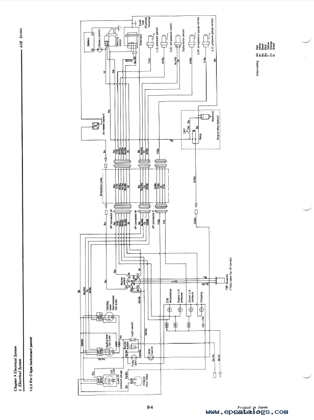 battery starter alternator wiring diagram