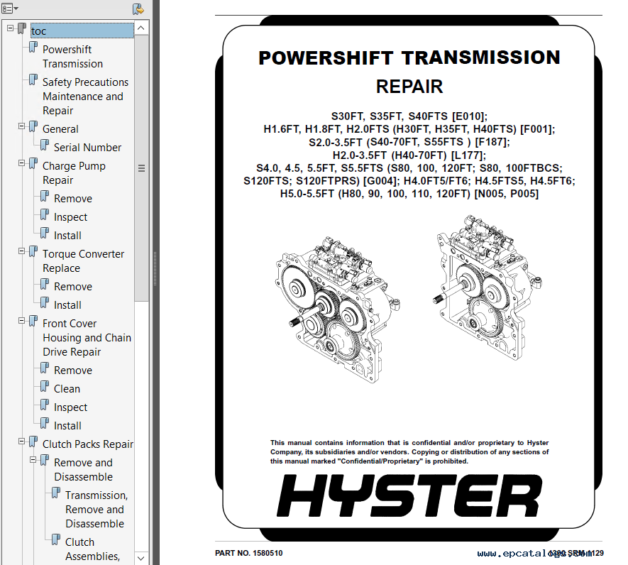Hyster Class 4 G004 Internal Combustion Engine Trucks Pdf