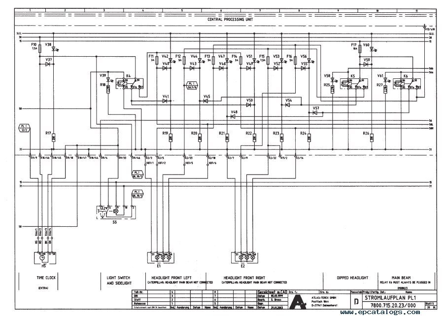 terex atlas 1504 1604 lc excavator workshop manual pdf