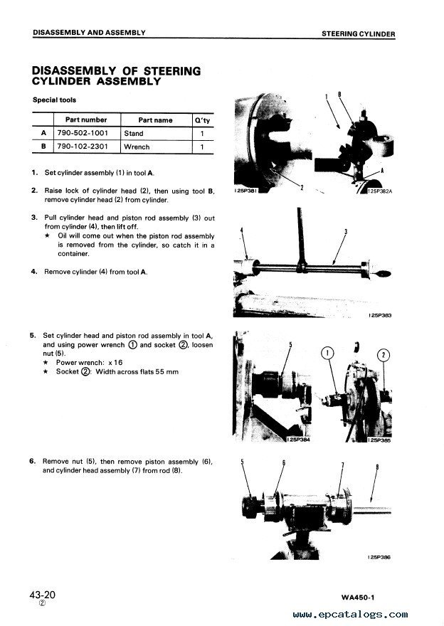 komatsu wa450 1 wheel loader shop manuals pdf. Black Bedroom Furniture Sets. Home Design Ideas