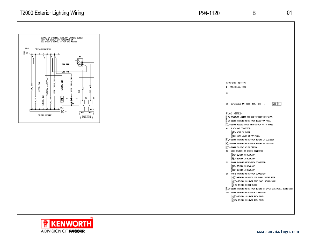 kenworth t2000 electrical wiring diagram manual pdf repair manual enlarge