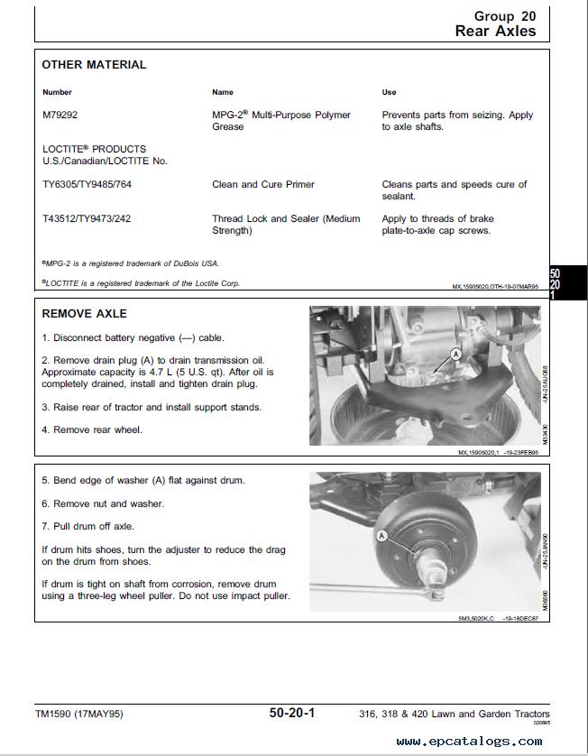 John Deere 316 Manual Pdf - Wiring Library •