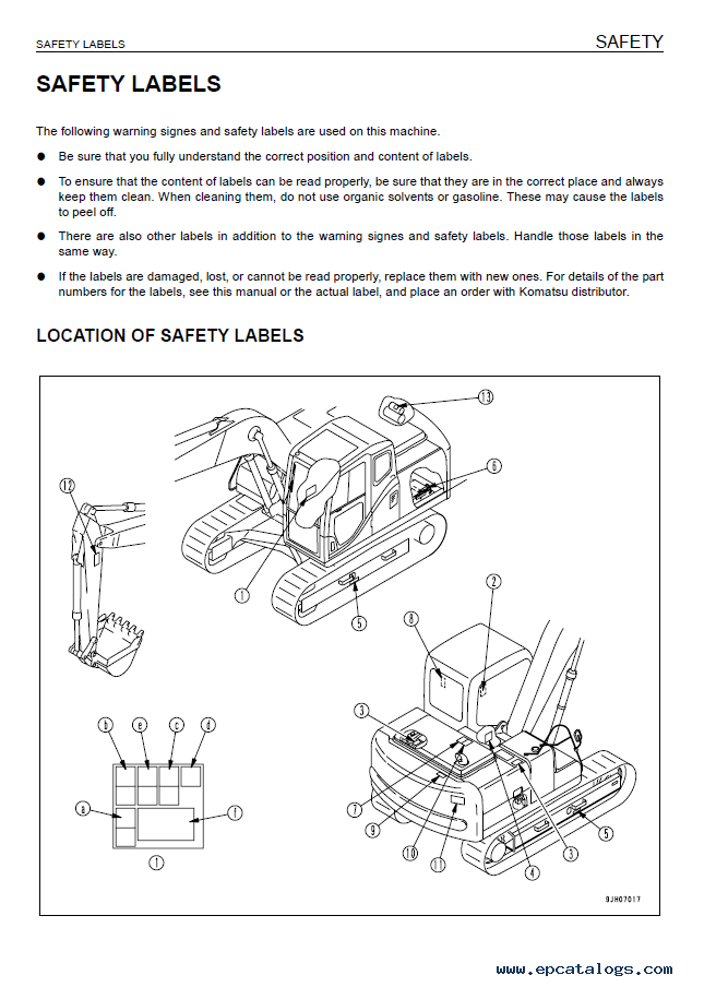 Komatsu Hydraulic Excavator PC130-7 PDF Set of Manuals