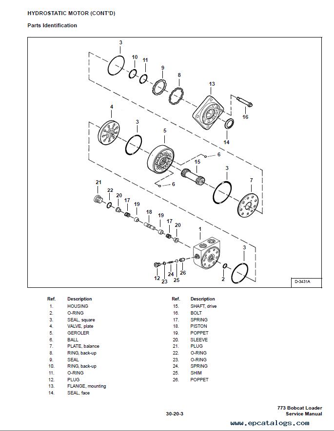 Bobcat 773 Hydrostat Hydralulic Parts Diagram - Online Schematic ...