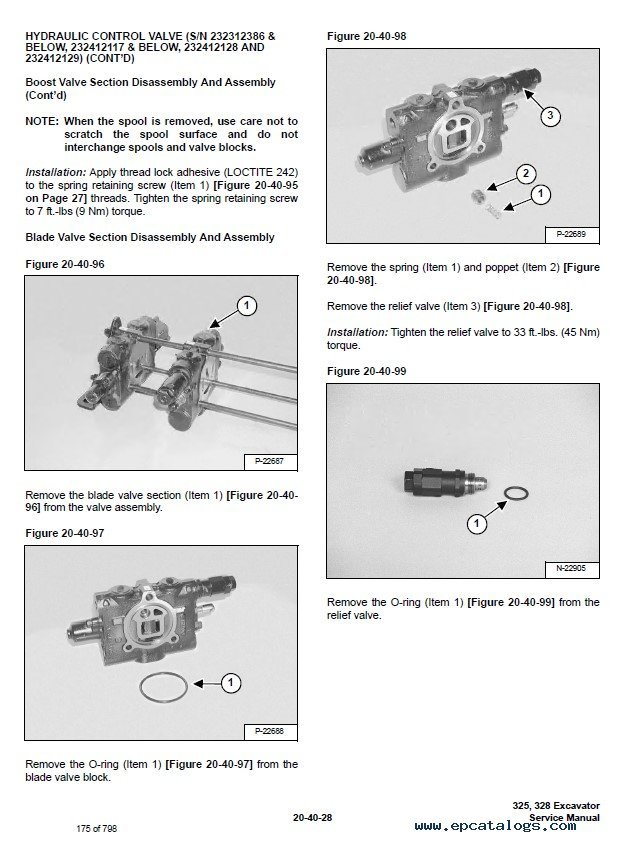 Bobcat 325, 328 Excavator D Series Service Manual PDF
