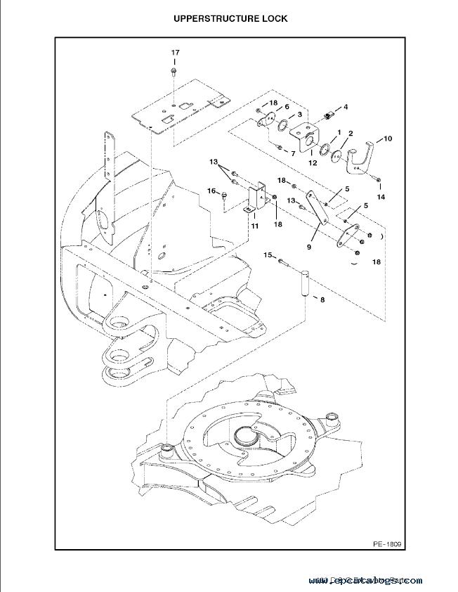 Bobcat 430 D & G Series Excavator Parts Manual PDF