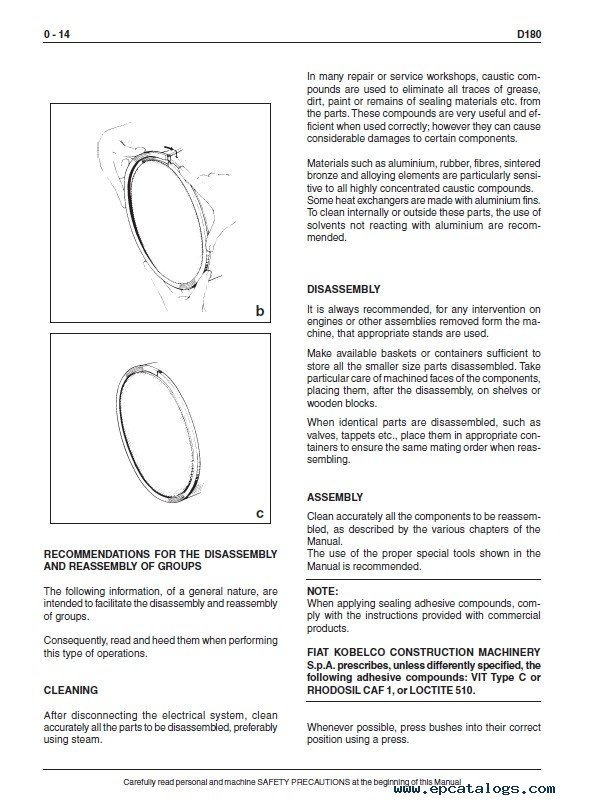 Fiat Kobelco D180 Crawler Dozer Workshop Manual PDF