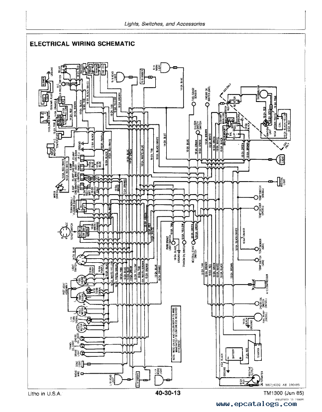 john deere 2360 windrower and 160 platform tm1300 technical manual pdf john deere 2360 windrower and 160 platform tm1300 technical manual long 2360 tractor wiring diagram at edmiracle.co