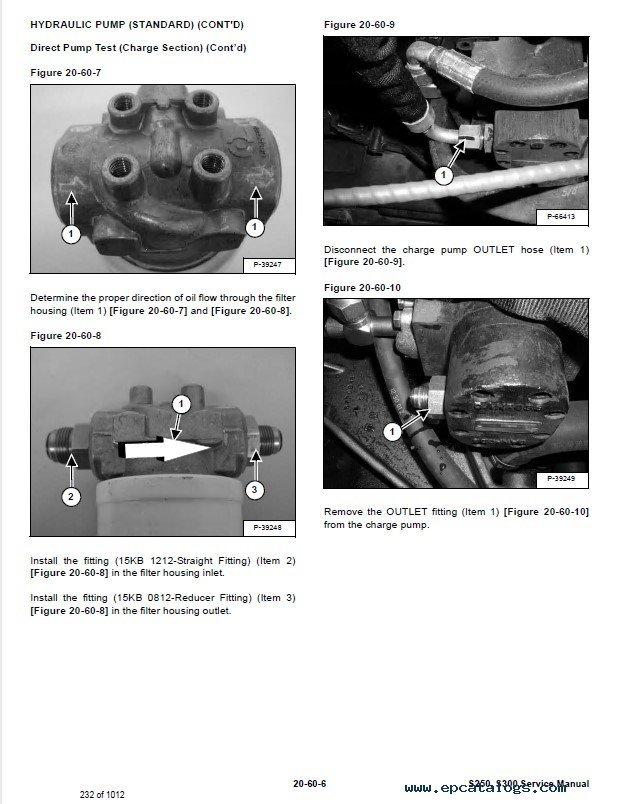 Bobcat S250 S300 Skid Steer Loader Service Manual Pdf