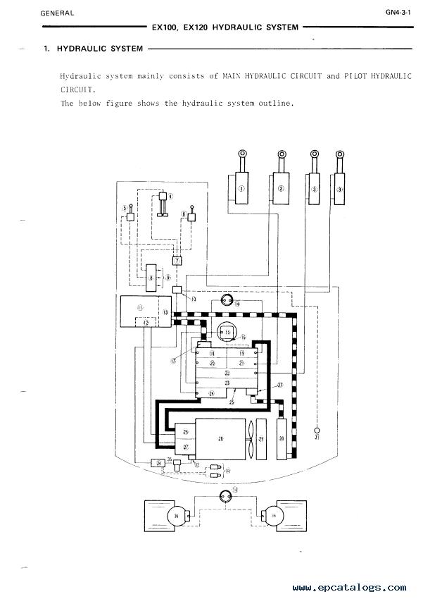 Hitachi Ex100  Ex100m Excavator Service Manual Pdf