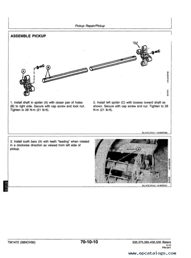 john deere 335 375 385 435 535 round balers technical manual tm 1472 john deere 335 375 385 435 535 round balers technical manual John Deere 535 Hay Baler at crackthecode.co
