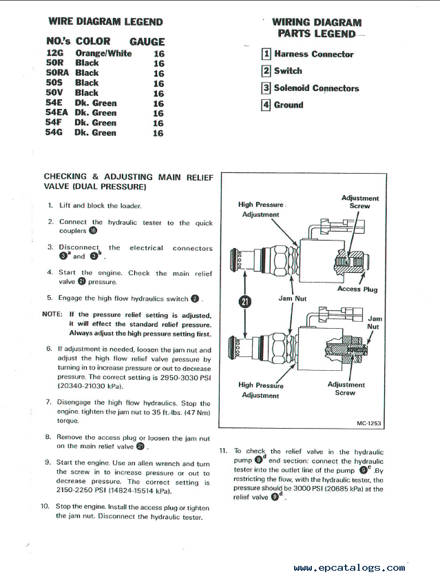 bobcat 843 843b skid steer loaders service manual pdf rh epcatalogs com