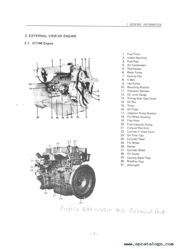 daewoo doosan storm engine d2366  t  d1146  t repair manual pdf
