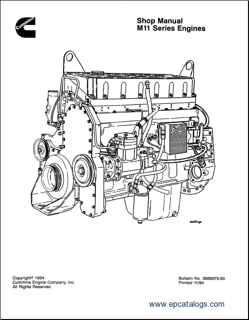 cummins engine m11 series shop manual rh epcatalogs com cummins m11 service manual cummins m11 service manual free download
