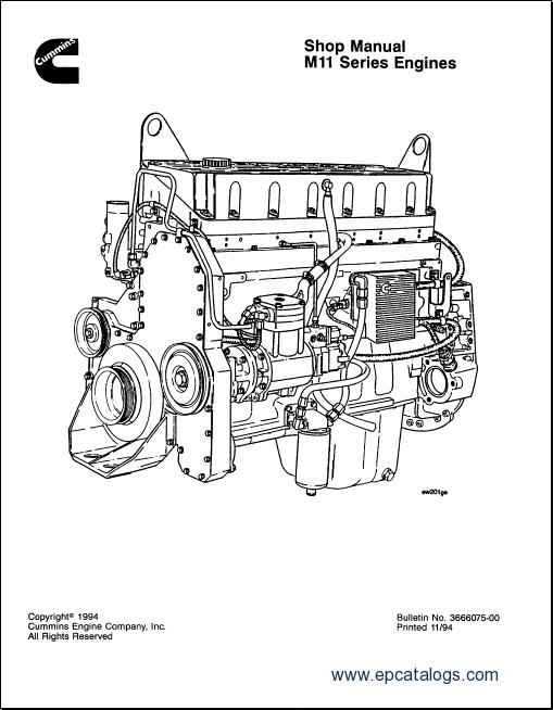 cummins engine m11 series shop manual rh epcatalogs com Cummins Engine Parts Cummins Rebuild Manuals