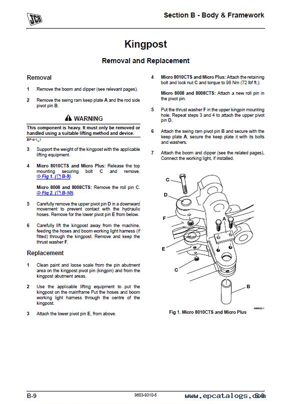 Download Jcb Micro Plus 8008 8010 Excavator Service Manual Pdf