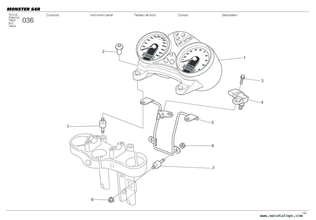 ducati monster parts diagram