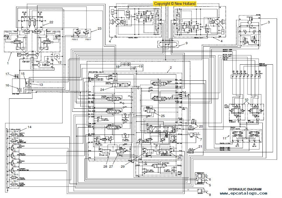 New Holland Kobelco E175B E195B Crawler Excavator Service Manual kobelco loader wiring diagram kobelco wirning diagrams kobelco wiring diagram at aneh.co