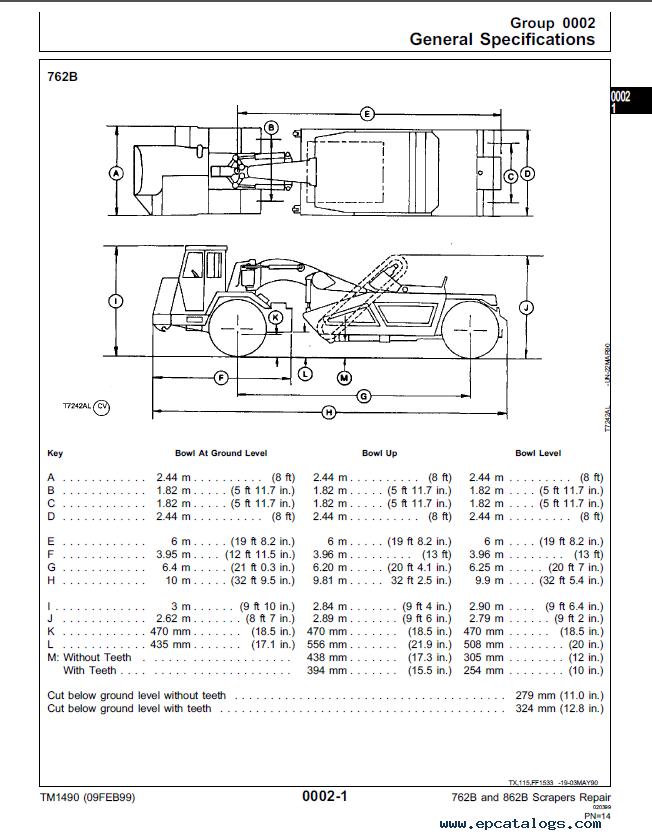 John Deere 762b 862b Scrapers Repair Tm1490 Pdf
