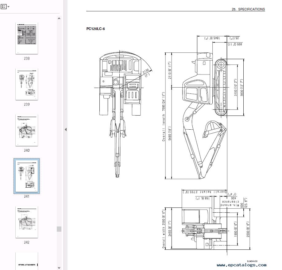 repair manual Komatsu Hydraulic Excavator PC120-6 Set of PDF Manuals - 3