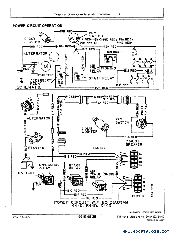 engine wiring diagram for john deere 644d