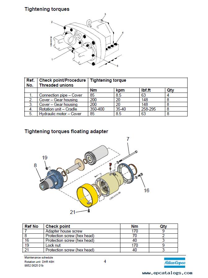 Atlas Copco Dh60  L8 Drill Rig Training  U0026 Service Manuals Pdf