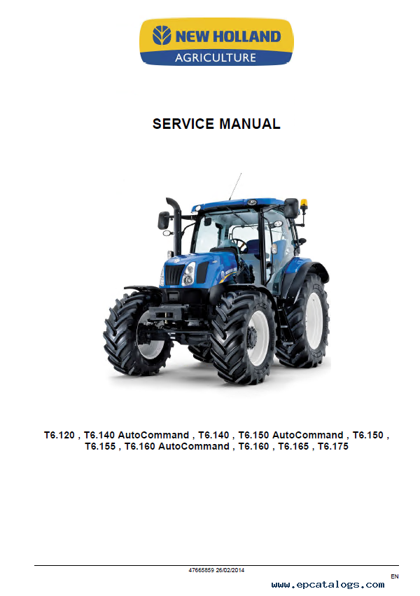 New Holland 1112 Service Manual on