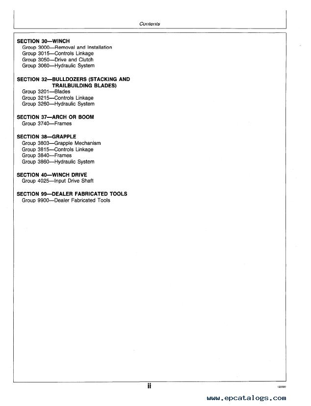 john deere 640d 648d skidders repair tm1440 technical manual pdf enlarge