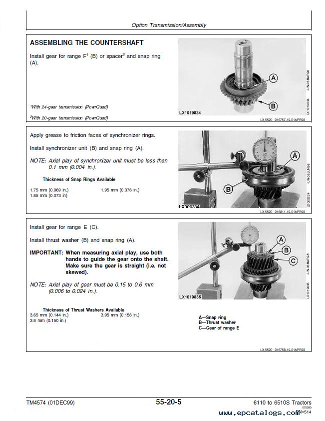 John Deere 61106410 6110L6510L 6310S6510S Tractors Repair – John Deere 6310 Wiring Diagram