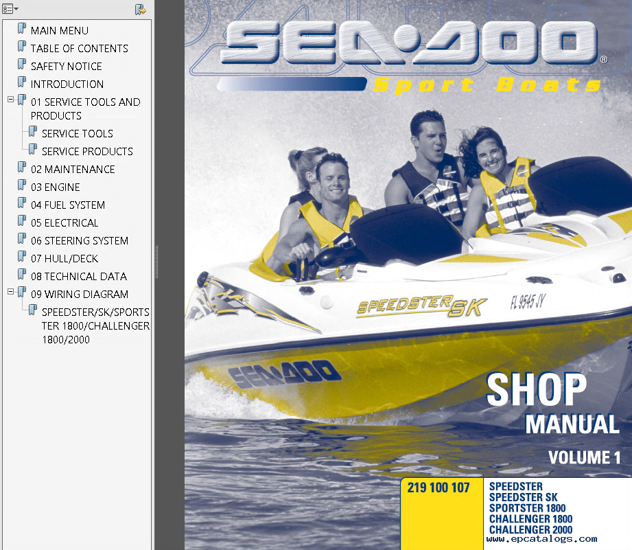 sea doo sport boats challenger speedster sportster pdf rh epcatalogs com Parts Manual Remington 870 Manual