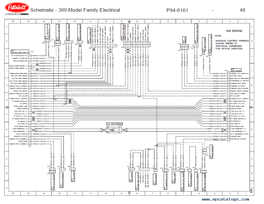 peterbilt truck 389 model family electrical schematic manual pdf Peterbilt Transmission Diagram