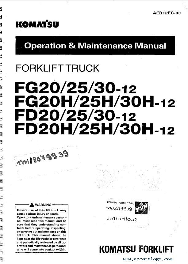 Komatsu Forklifts Shop  U0429peration Maintenance Manuals Pdf