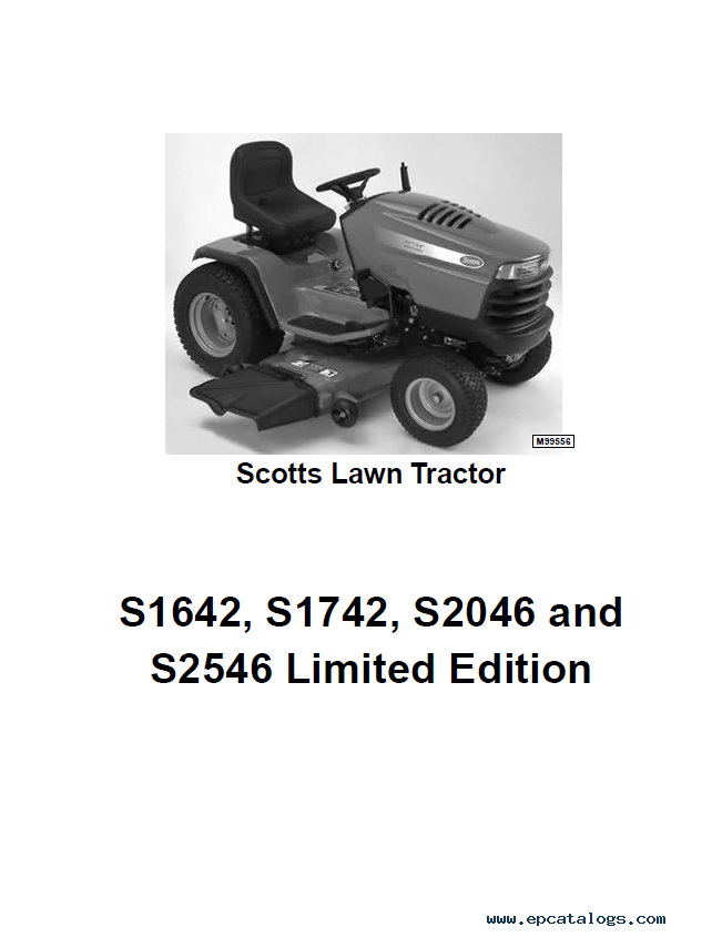 John Deere Scotts S S S S Lawn Garden Tractor Repair Manual on Kohler Engine Parts Catalog Manual